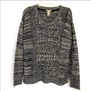 Forever 21 oversized loose knit grandpa pullover